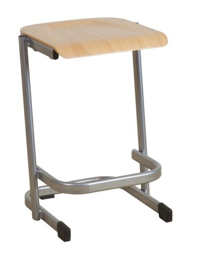 Beech Seat stacking Cantilever Stool in 3 different heights 460 , 540 , 610 mm