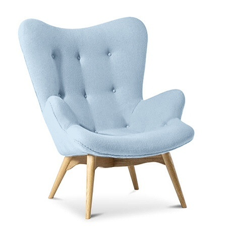 Cashmere Designer Armchair Light Blue Specialist