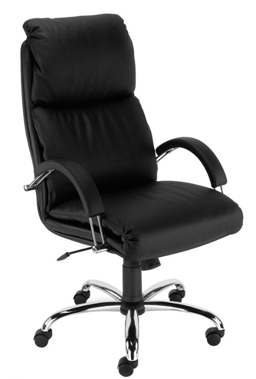 Black leather Nadir  Executive chair with Chrome base