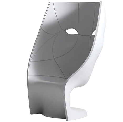Art Sculptured Face Chair Matt White