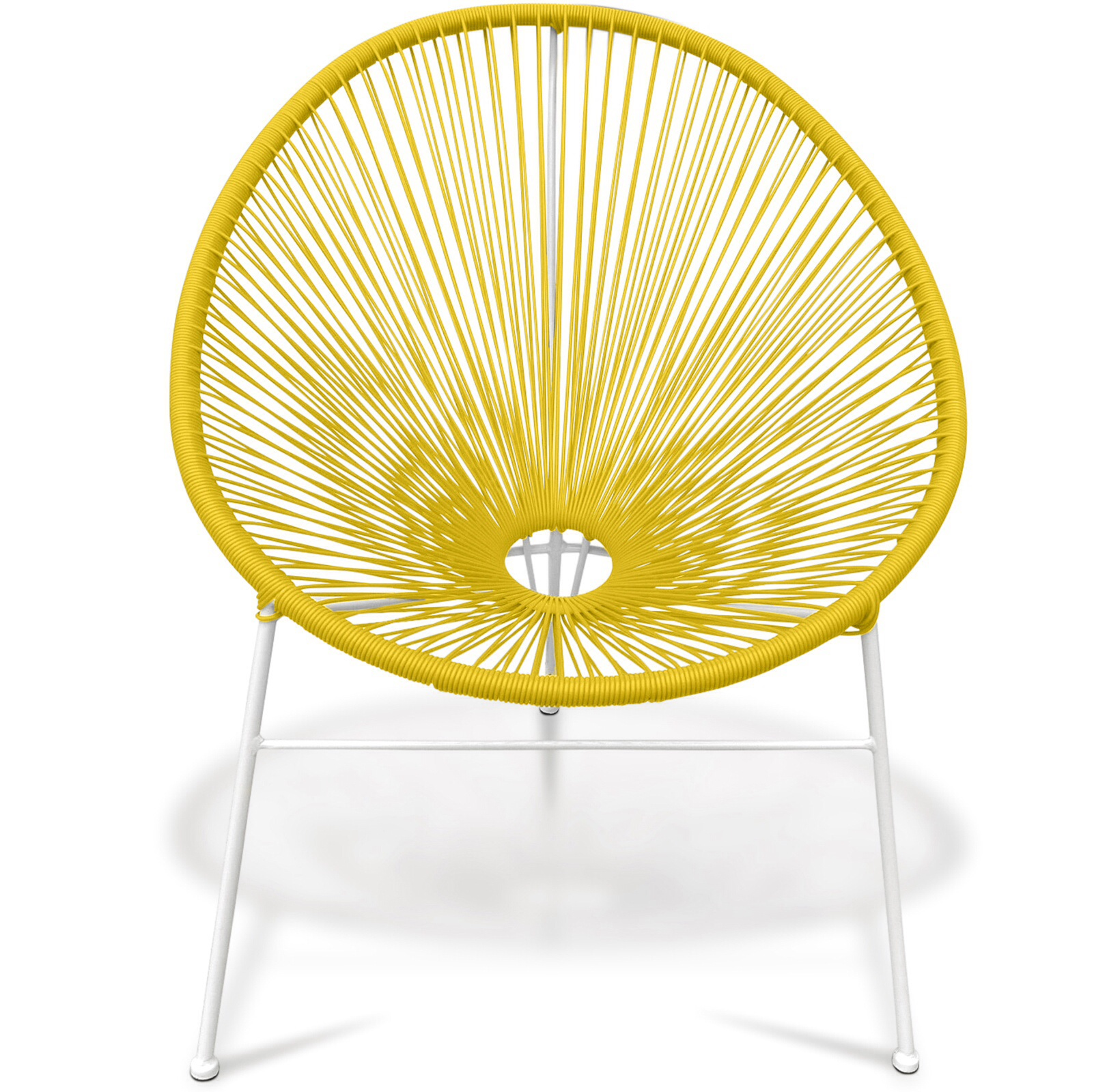 Aruba rattan indoor outdoor chair yellow specialist for Outdoor furniture yellow