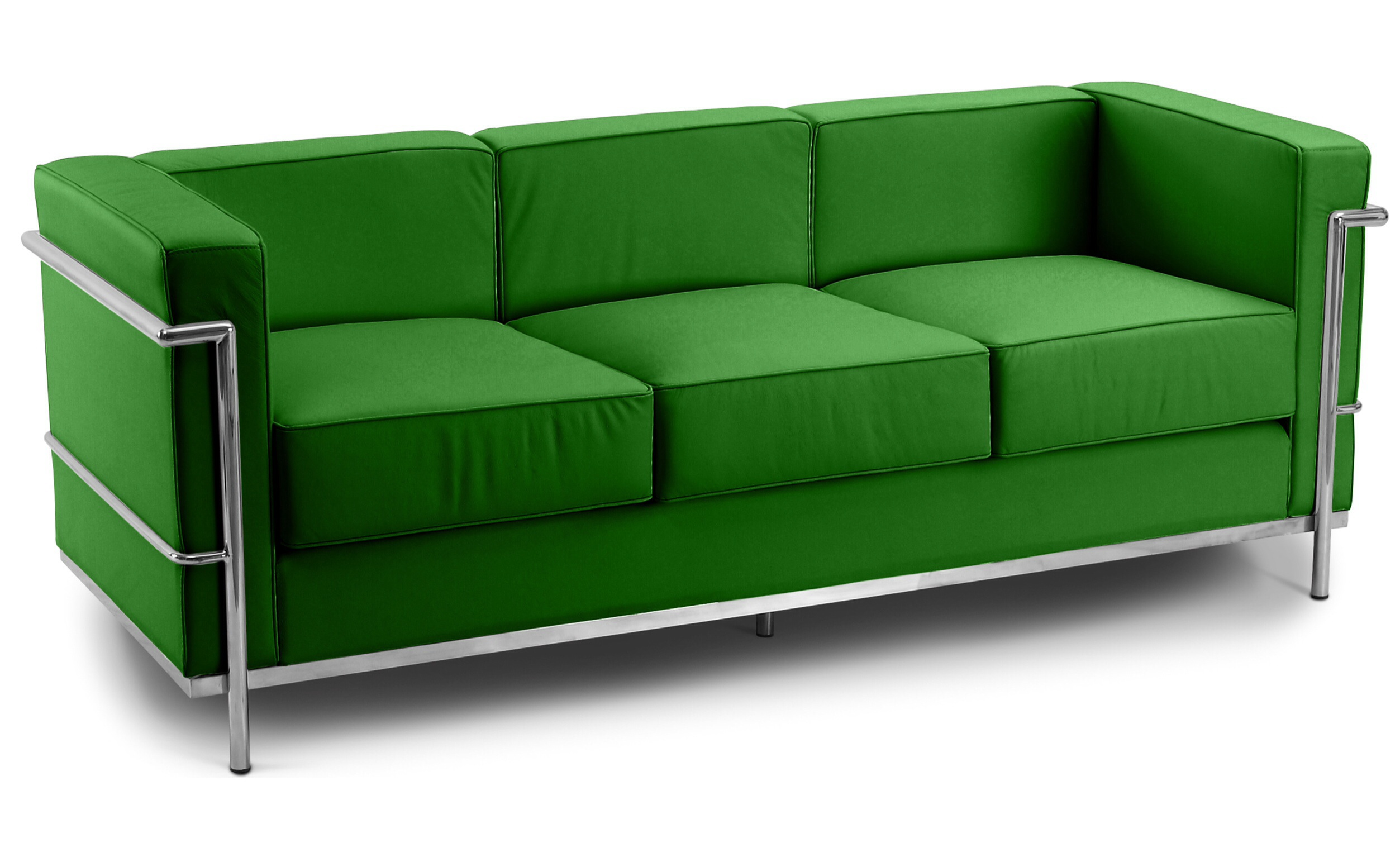 Corbusier 3 Seater Sofa Faux Leather Green 1960 Wide Specialist Furniture Contracts