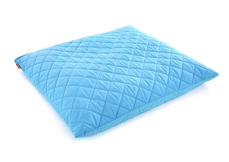Blue Outdoor Quilted Cushion