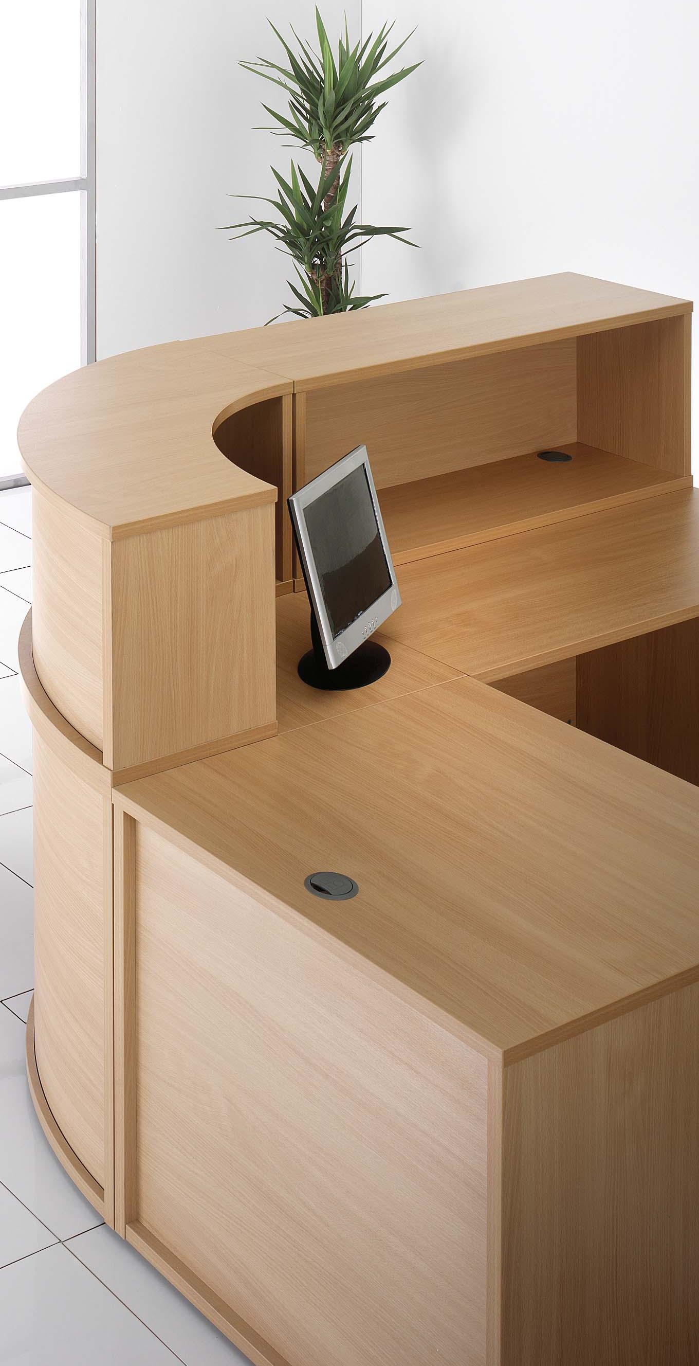 Budget Reception Desk Components Beech Specialist