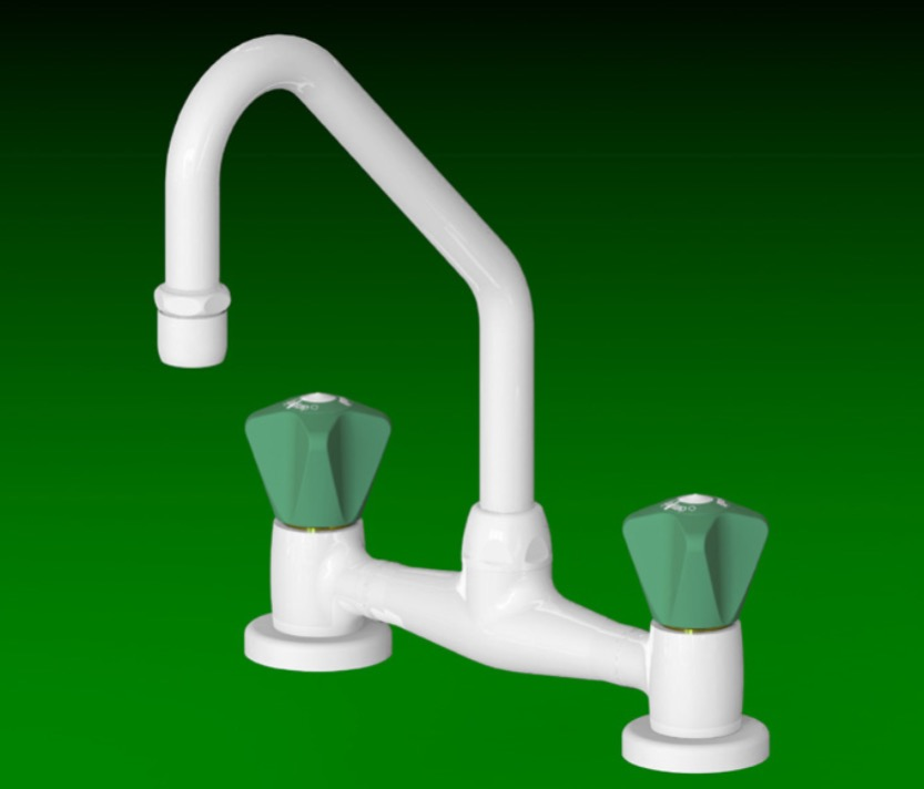 Laboratory Swivel Swan Neck Mixer Hot And Cold Water Tap