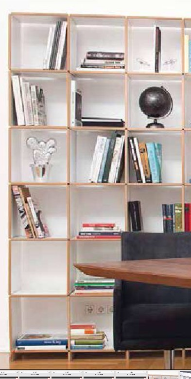 Designer 18 compartment wooden bookcase storage wall mdf edge white melamine side panels and shelves