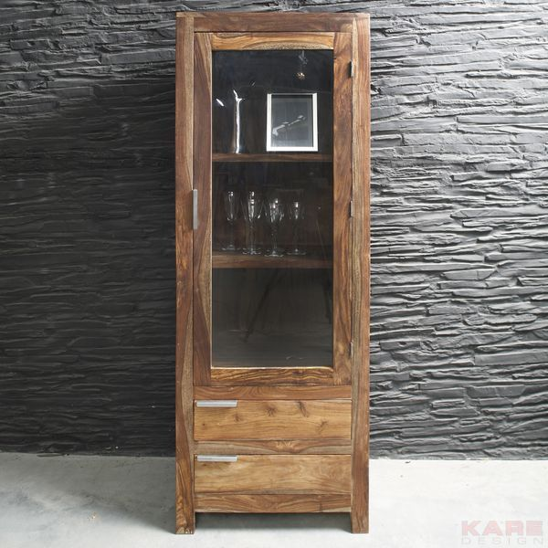 Designer Display Cabinet 2 drawers 1800h X 670w X 400d