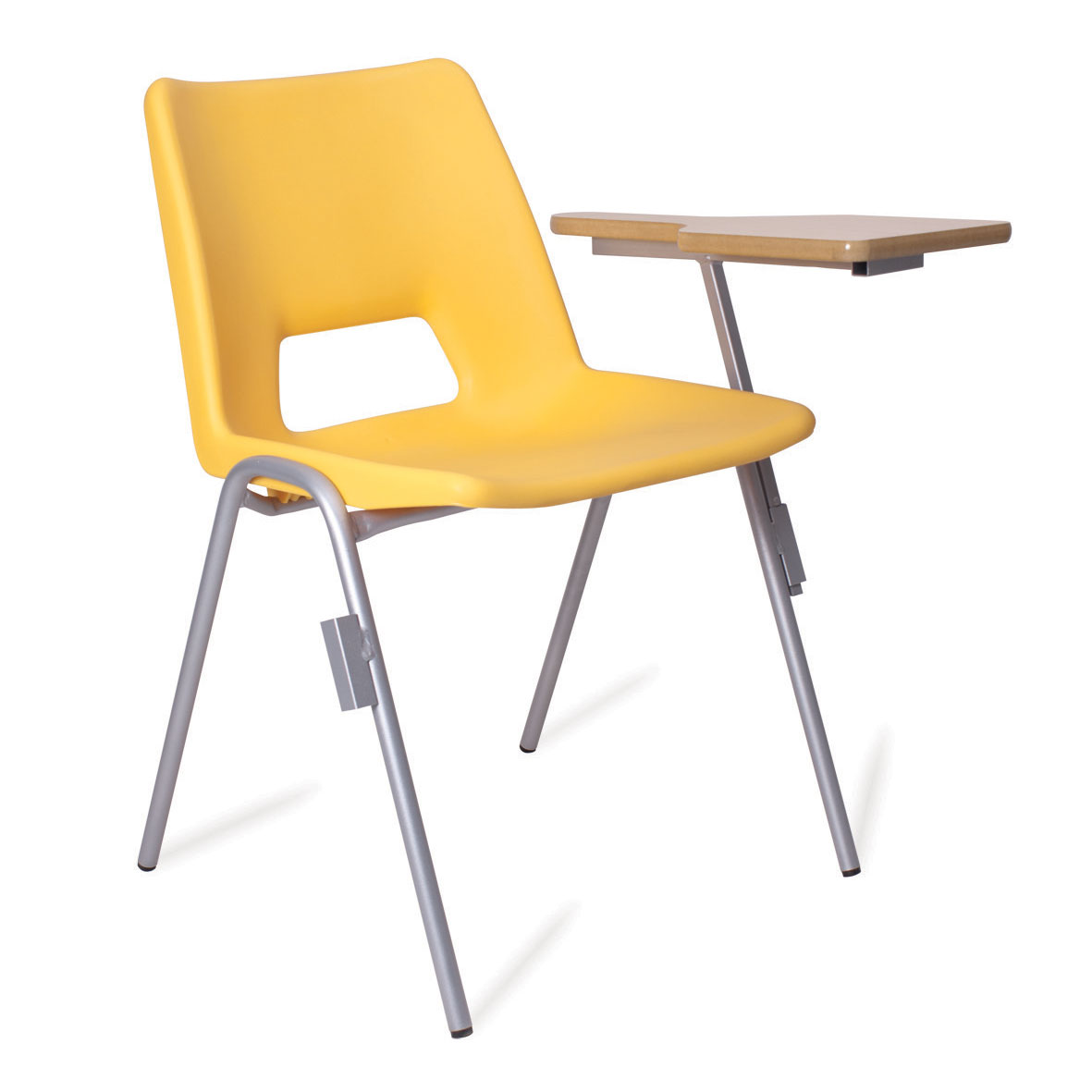 advanced 4 leg frame poly chair with writing tablet 430 or 460 mm