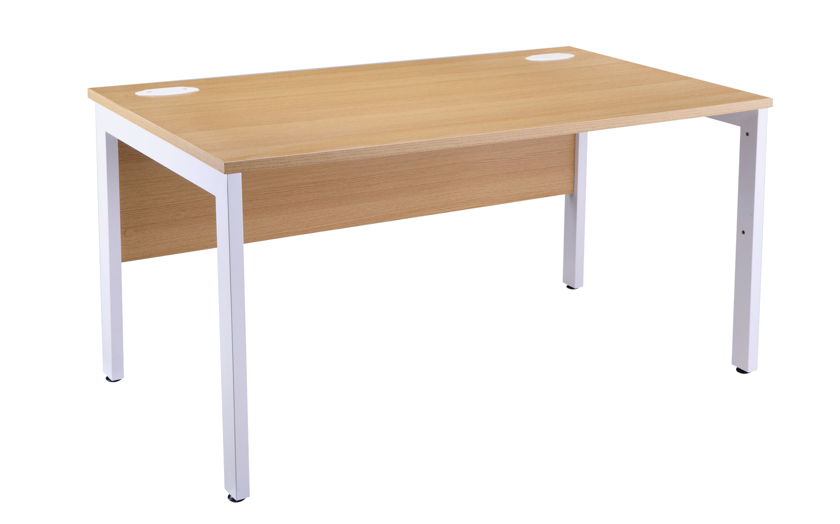 Bench Computer It Office Desk Oak And White800mm Deep Specialist Furniture Contracts