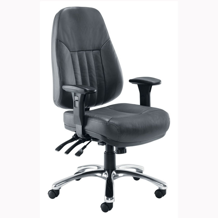 Black Leather Panther Heavy Duty Executive Chair Specialist Furniture Con