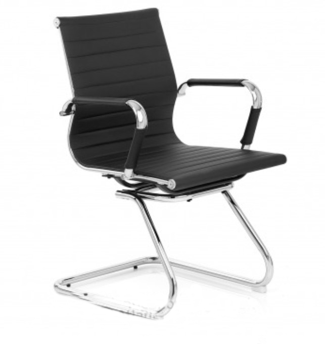 Budget Office Designer Swivel Chair Grey Faux Leather
