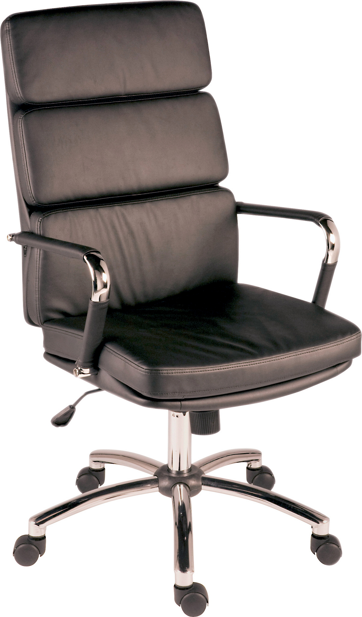 Budget Eames style padded faux leather office executive swivel chair Red