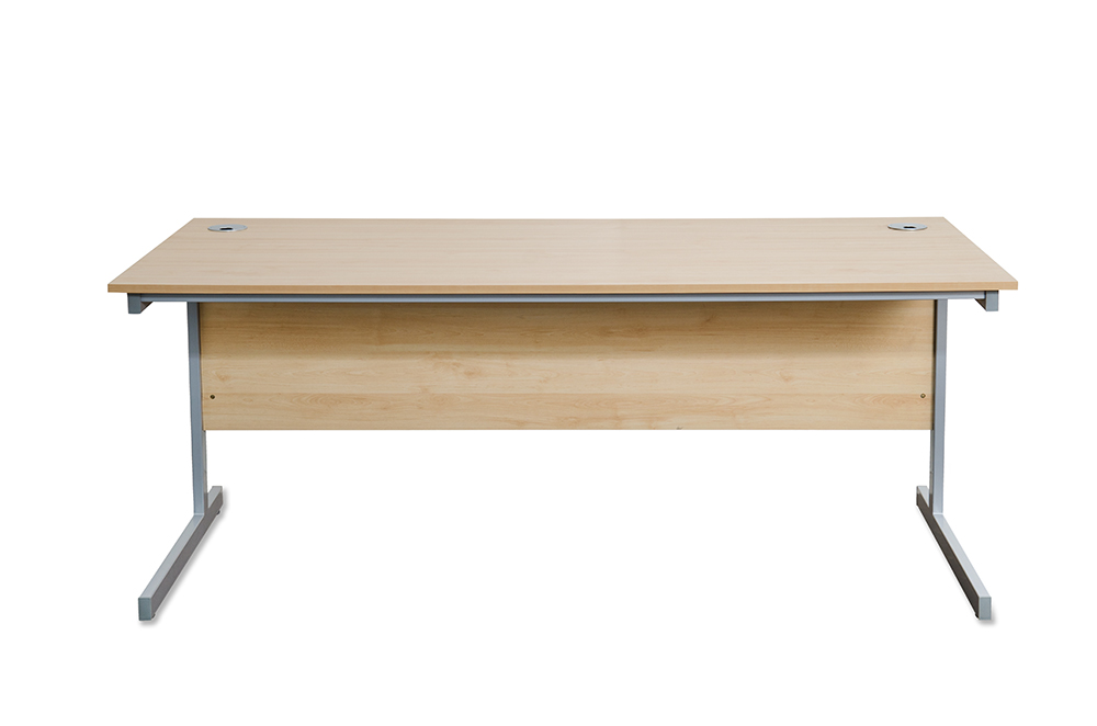 Budget maple rectangular desks 800 deep x 1800 wide Budget furniture