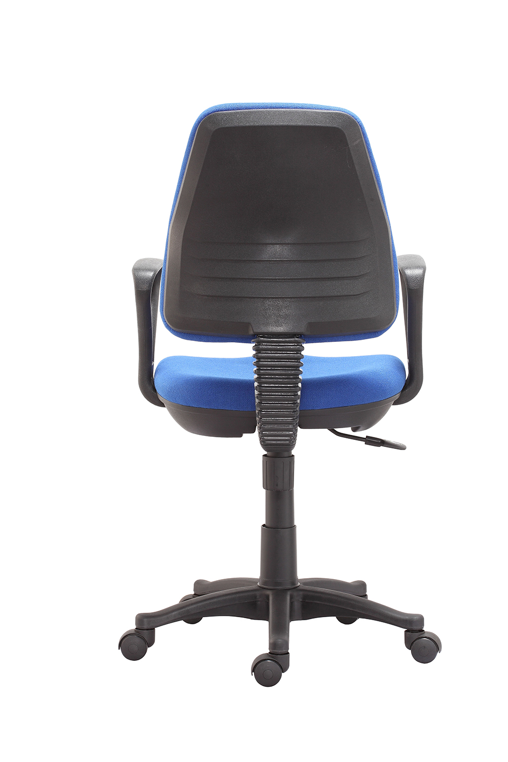 Budget economy operators chair with arms ex stock in blue Budget furniture
