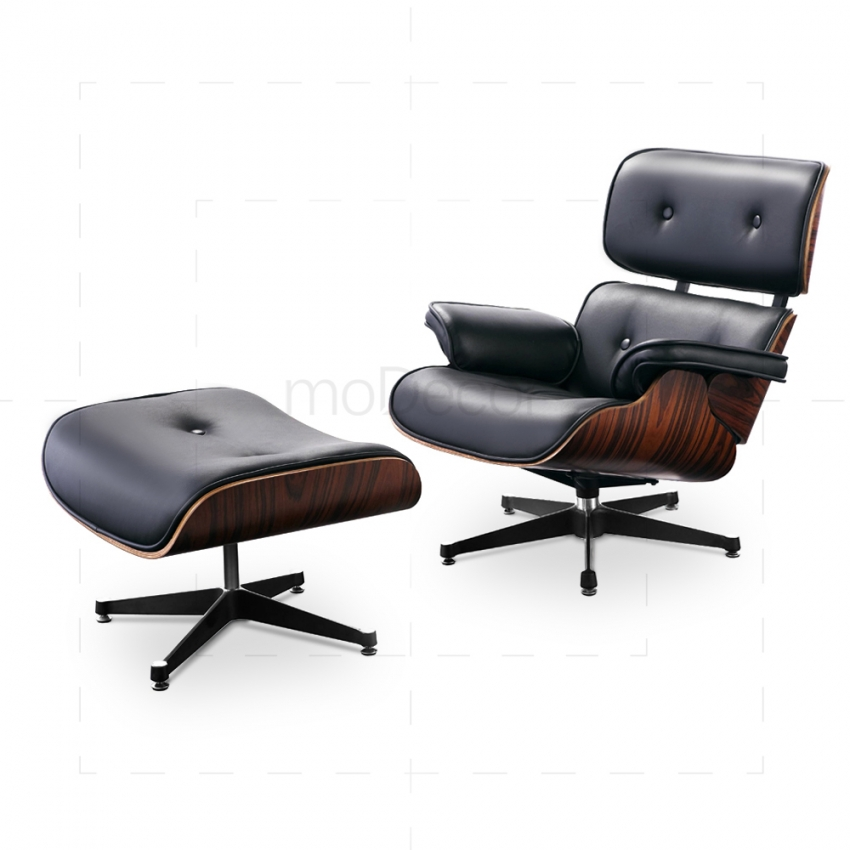 Charles Eames Style Leather Lounge Chair