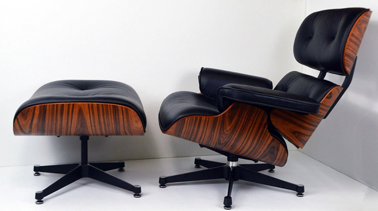 Charles eames style leather lounge chair specialist for Charles eames lounge chair nachbildung