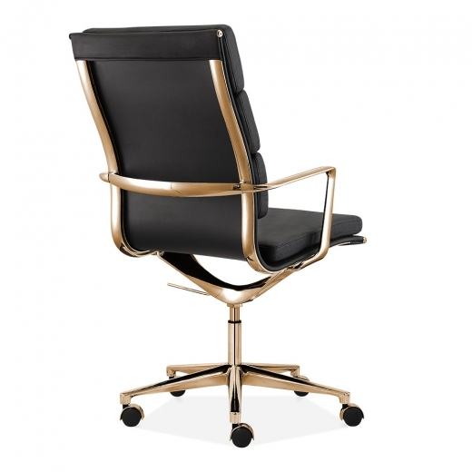 charles eames style office padded faux leather mastermind chair high