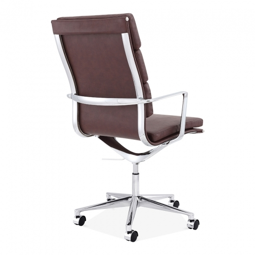 eames style office chairs. Charles Eames Style Office Padded Faux Leather Mastermind High Back Chair Brown | Specialist Furniture Contracts Chairs