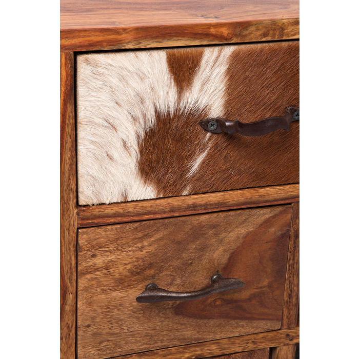 Designer cabinet 8 drawer dresser 3 doors one of a kind 1380x1000x300 Wood and Cowskin