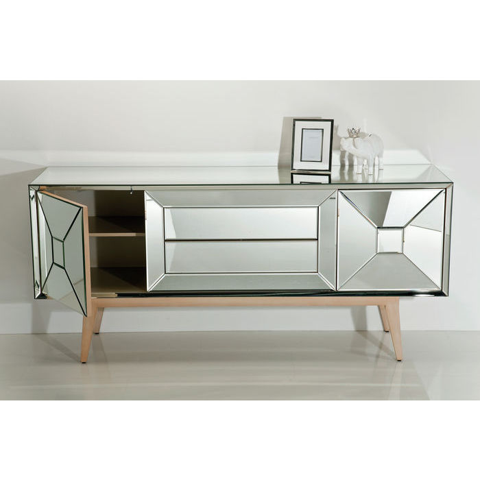 designer sideboard with coloured glass panels 1530 w x 480 d x 780 h specialist furniture. Black Bedroom Furniture Sets. Home Design Ideas