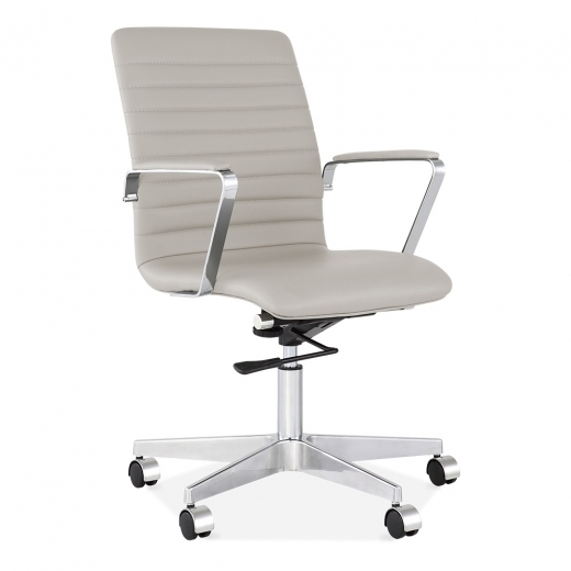 eames inspired ribbed office chair light grey specialist furniture rh specialistfurniturecontracts co uk Computer Desk Chair Best Inexpensive Office Chair
