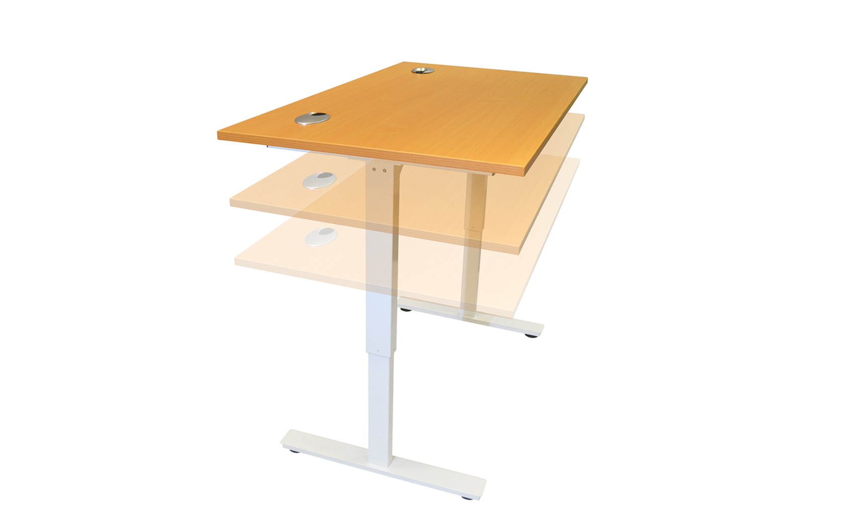 Electric height adjustable sit stand desk various sizes for Motorized sit stand desk