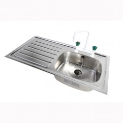 Heavy Duty Stainless Steel Sink with drainer two sizes