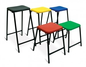 Advanced Poly stool various heights and colours