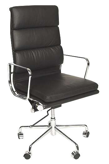 Eames Style Office Chair Dining Room Contemporary With: Charles Eames Style Office Soft Pad High Back Chair Black
