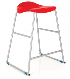 Titan Ultimate Classroom Stool in Red